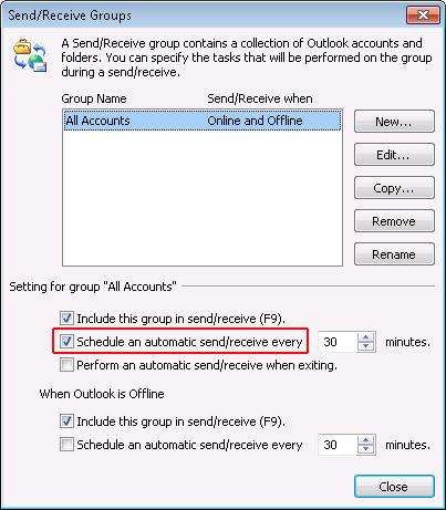 Resolve Outlook Error 0x800cccdd in Outlook 2010: Step3